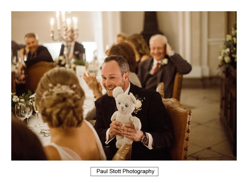 wedding speeches 008 1 - Wiston House Wedding Photography - Laura and Will