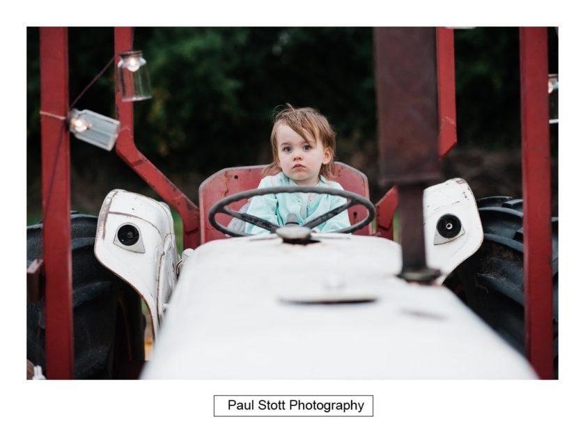boy tractor - Crow Farm - Gemma and Phil