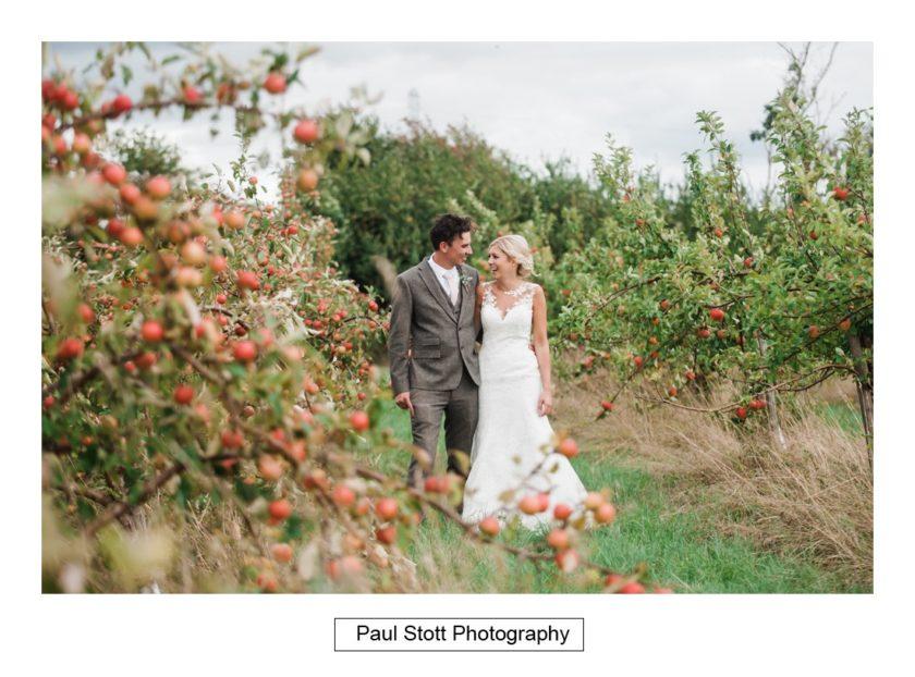 bride groom apple orchard 002 - Crow Farm - Gemma and Phil