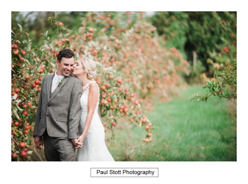 bride groom apple orchard 005 - Crow Farm - Gemma and Phil