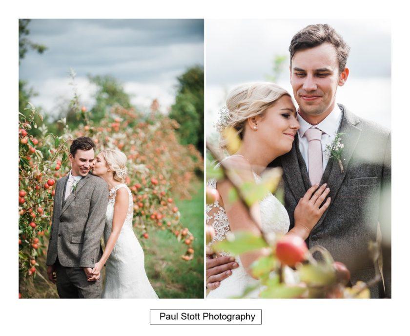 bride groom apple orchard 006 - Crow Farm - Gemma and Phil