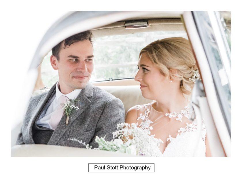 bride groom wedding car 002 - Crow Farm - Gemma and Phil