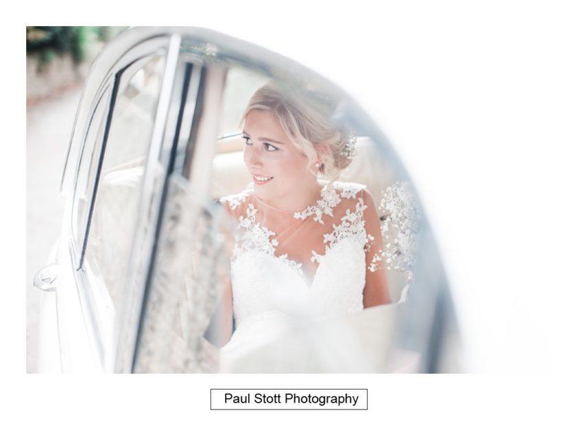 bride wedding car 001 - Crow Farm - Gemma and Phil