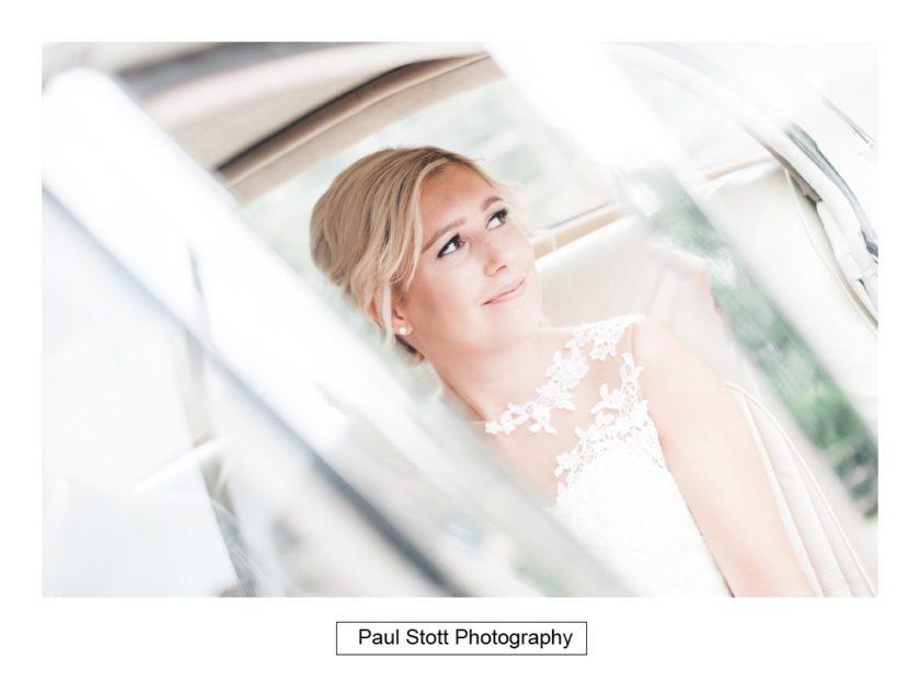 bride wedding car 002 - Crow Farm - Gemma and Phil