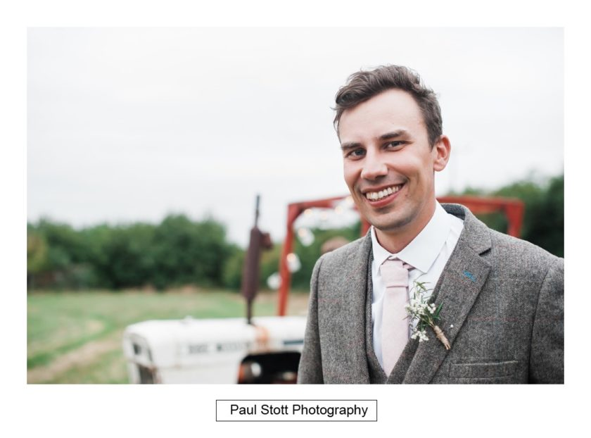 groom tractor - Crow Farm - Gemma and Phil