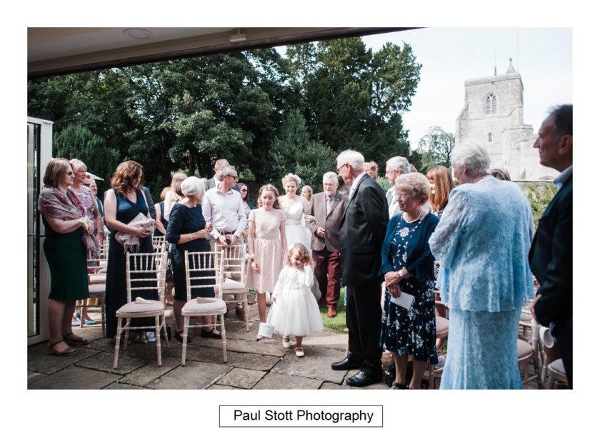 walking down wedding aisle 001 - Quat'Saisons Wedding Photography - Angela and Paul