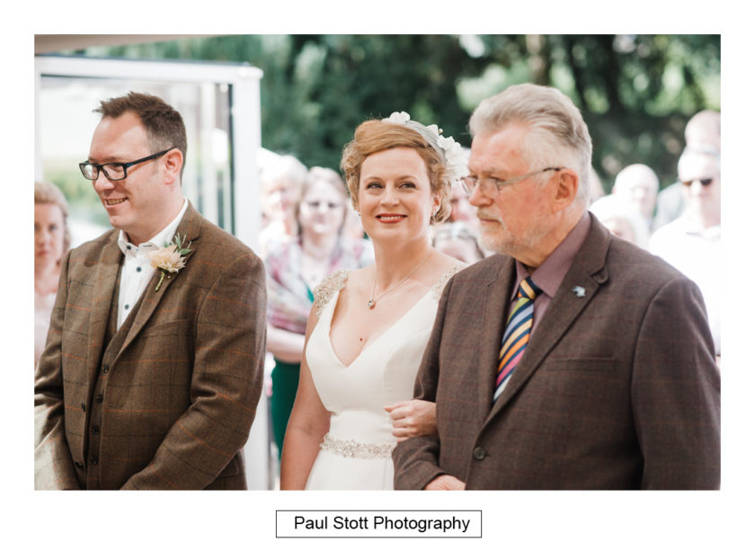 walking down wedding aisle 002 - Quat'Saisons Wedding Photography - Angela and Paul