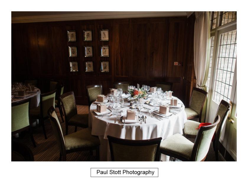 wedding breakfast room quat de saisions 001 - Quat'Saisons Wedding Photography - Angela and Paul