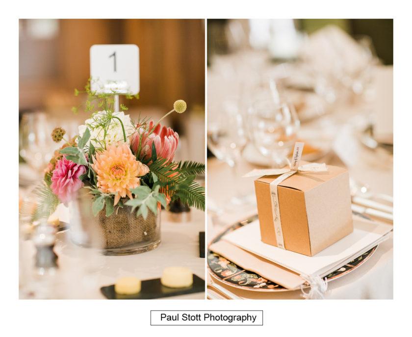 wedding breakfast room quat de saisions 004 - Quat'Saisons Wedding Photography - Angela and Paul