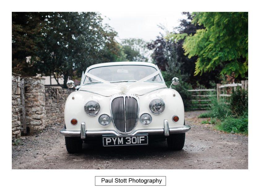 wedding car 001 - Crow Farm - Gemma and Phil
