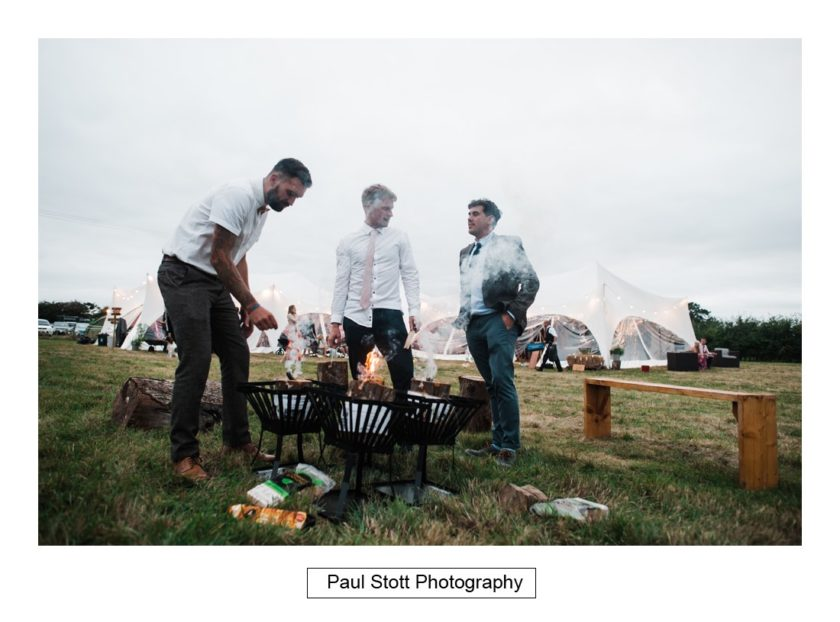 wedding guests firepit 001 - Crow Farm - Gemma and Phil
