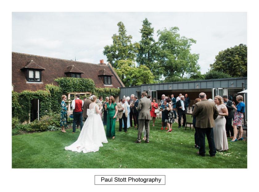 wedding guests lawn quat de saision 003 - Quat'Saisons Wedding Photography - Angela and Paul