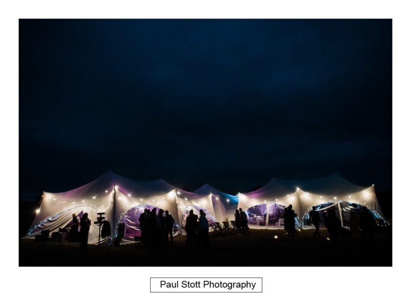 wedding marquee evening - Crow Farm - Gemma and Phil