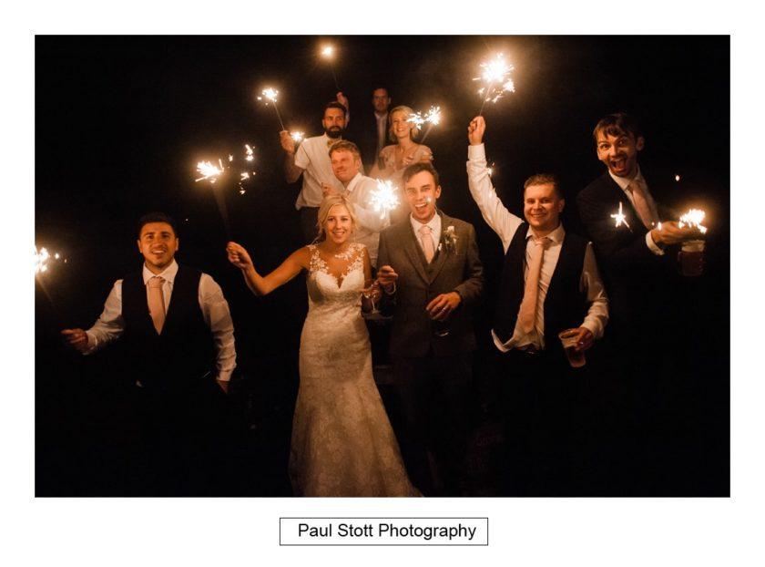 wedding sparklers 002 - Crow Farm - Gemma and Phil
