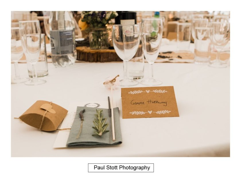 wedding table details 001 - Crow Farm - Gemma and Phil