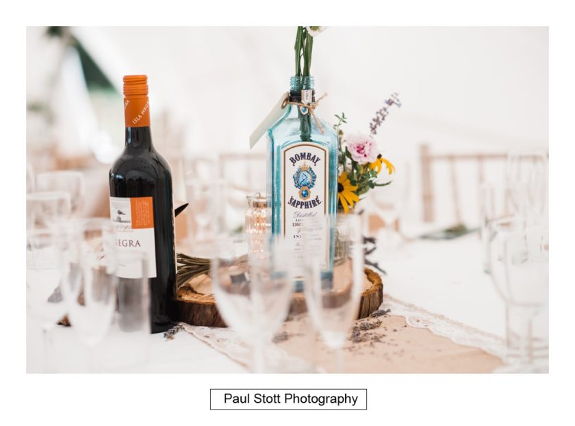 wedding table details 002 - Crow Farm - Gemma and Phil