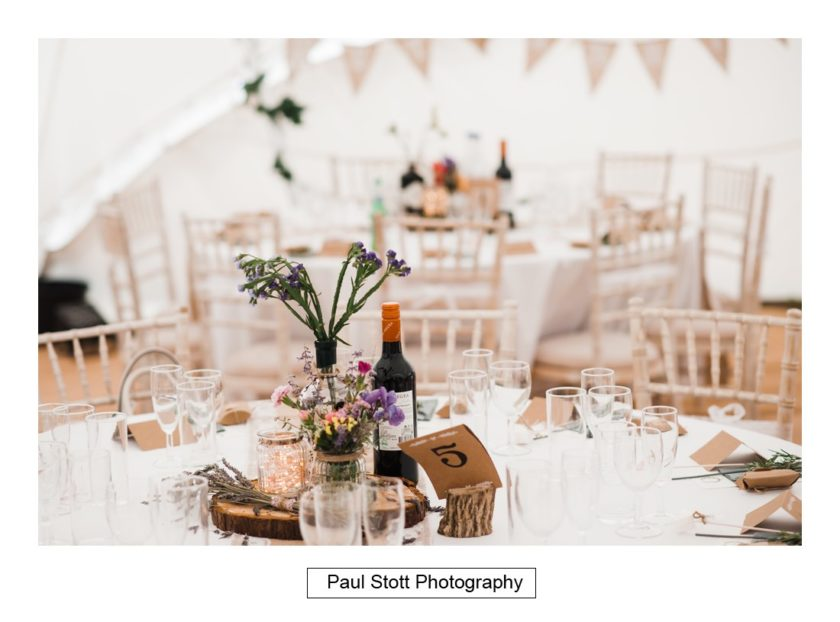 wedding table details 004 - Crow Farm - Gemma and Phil