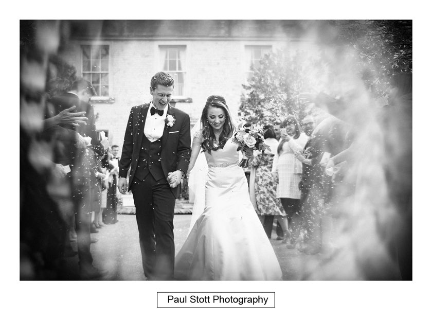 Confetti Froyle Park 004 - Froyle Park Wedding Photography - Rhian and George