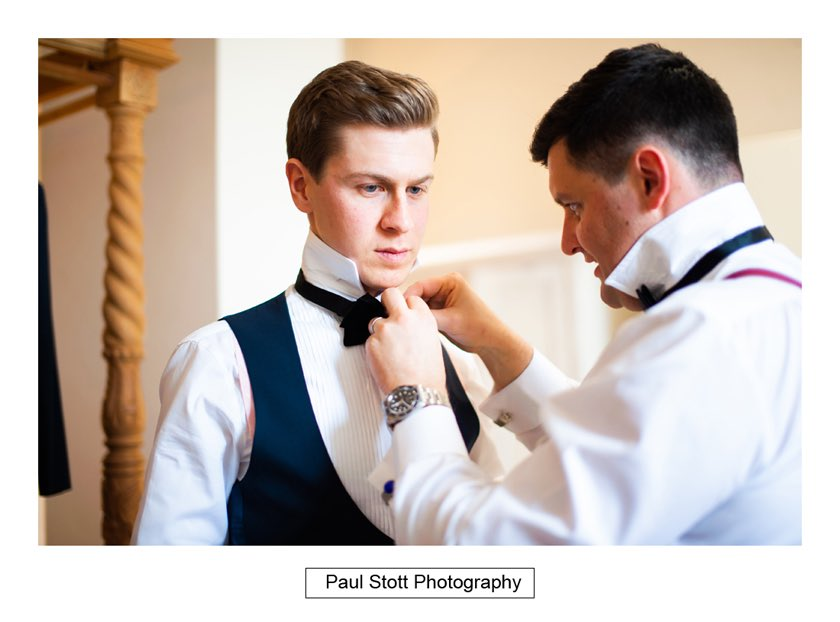 Groom Wedding Preparation 005 - Froyle Park Wedding Photography - Rhian and George