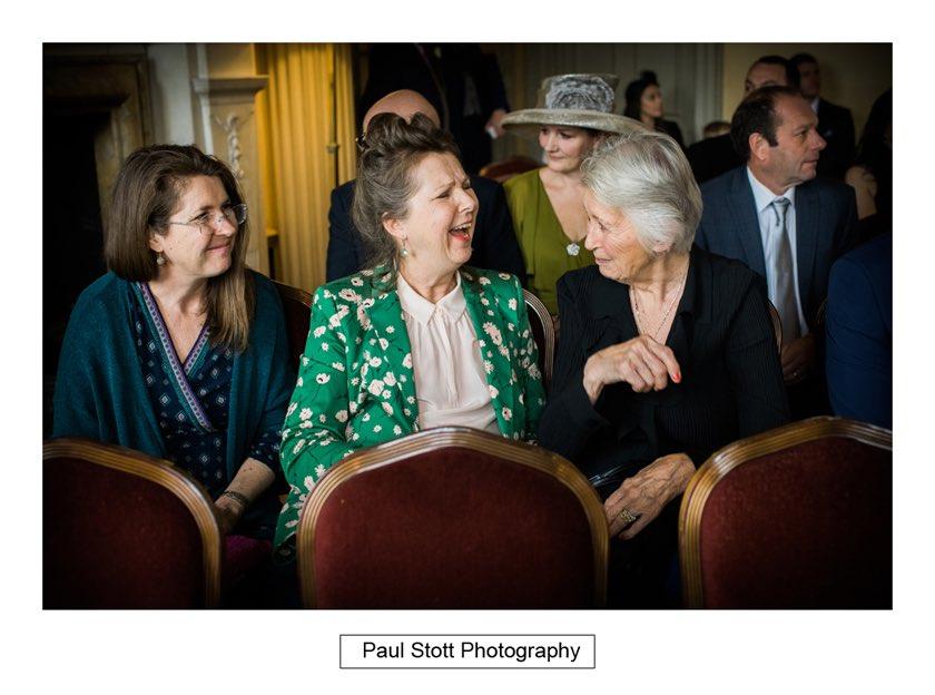 before wedding ceremony 001 - Hampton Court House Wedding Photography - Phil and Vittoria