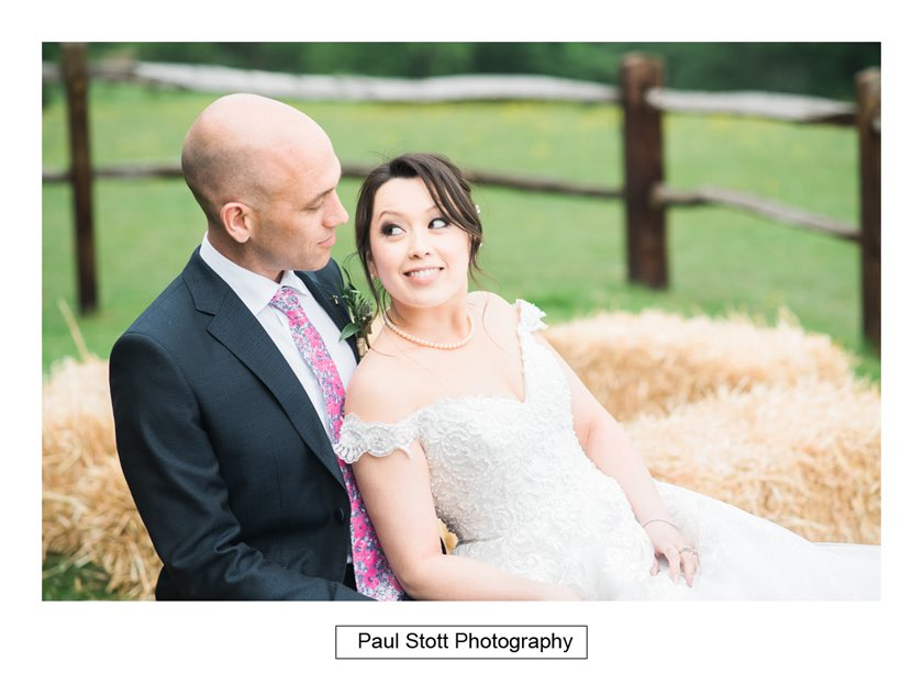 bride groom hay bales taylors farm retreat 003 - Wedding Photography Taylors Farm - Sylvie and Paul