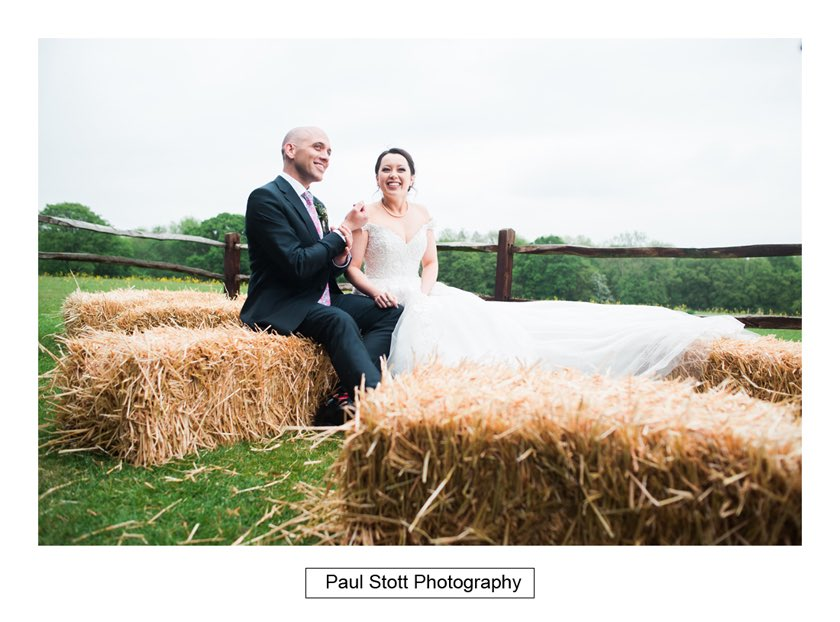 bride groom hay bales taylors farm retreat 006 - Wedding Photography Taylors Farm - Sylvie and Paul