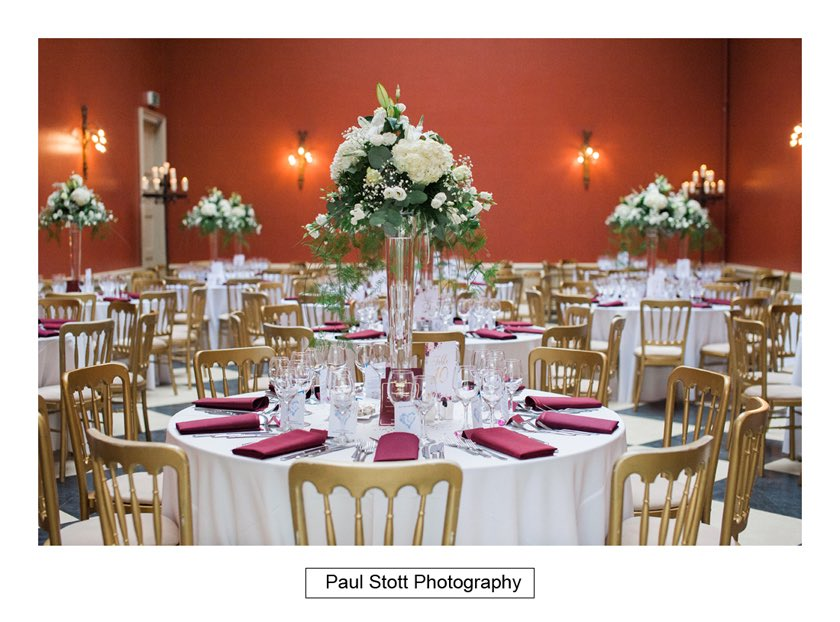 wedding breakfast room hampton court house 001 - Hampton Court House Wedding Photography - Phil and Vittoria