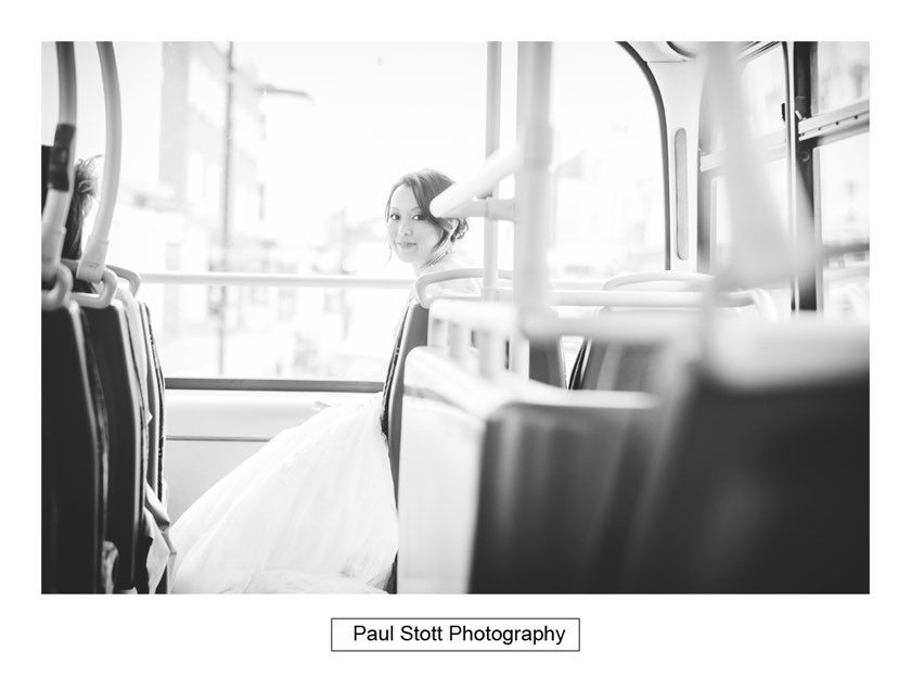 wedding double decker bus 001 - Wedding Photography Taylors Farm - Sylvie and Paul