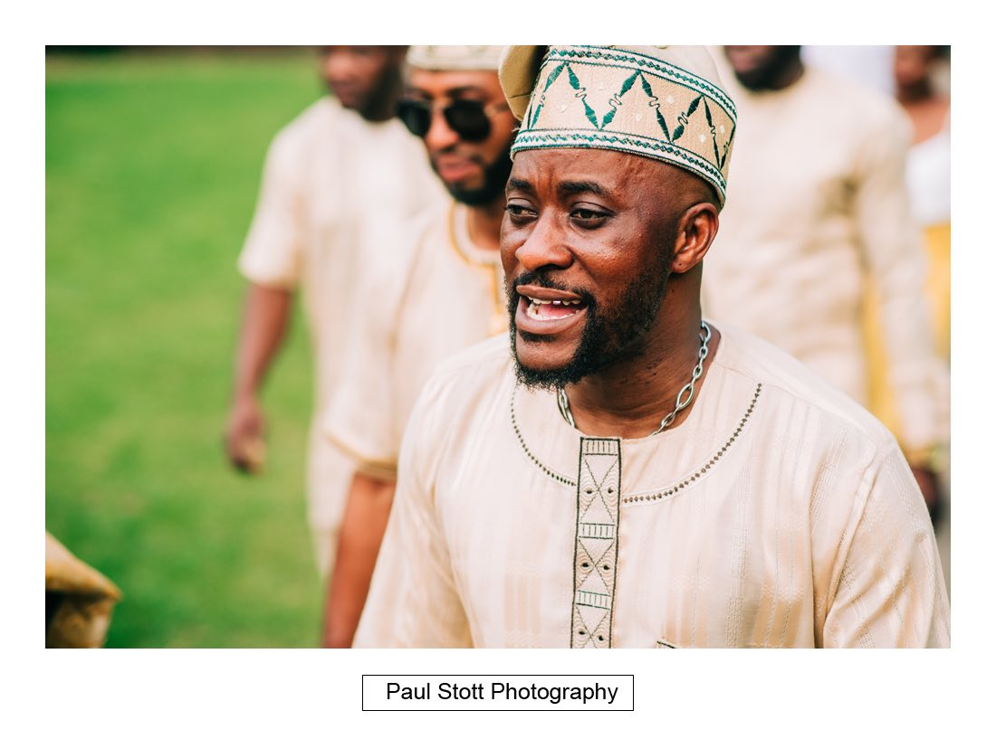 044 nigerian headgear - Wedding Photography Orsett Hall - Abisola and Abel