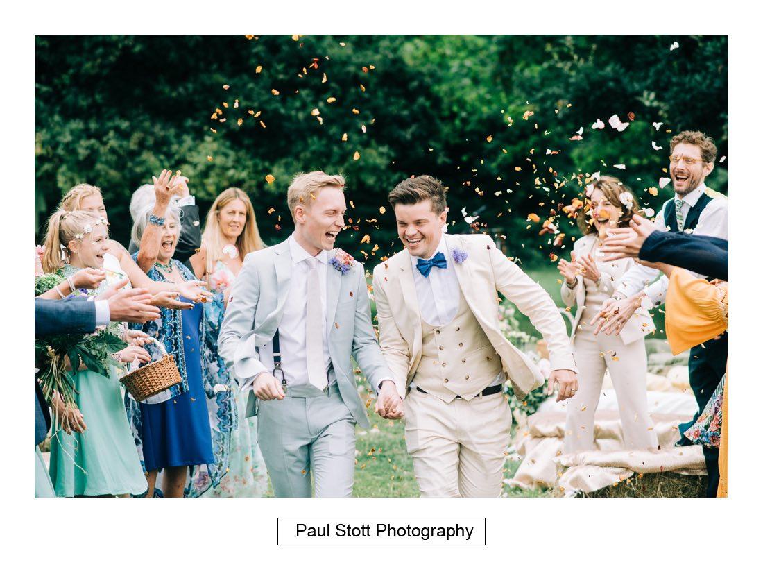 093 woodlands farm confetti 001 - Wedding Photography Woodlands Farm  - Misha and Greg