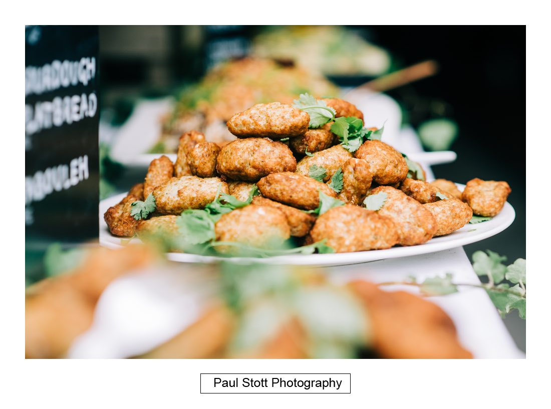 120 wedding food 002 - Wedding Photography Woodlands Farm  - Misha and Greg