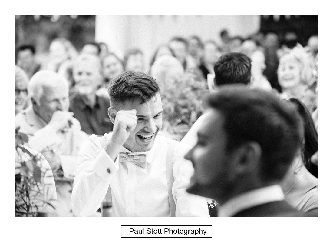 129 woodlands farm wedding speeches 009 - Wedding Photography Woodlands Farm  - Misha and Greg