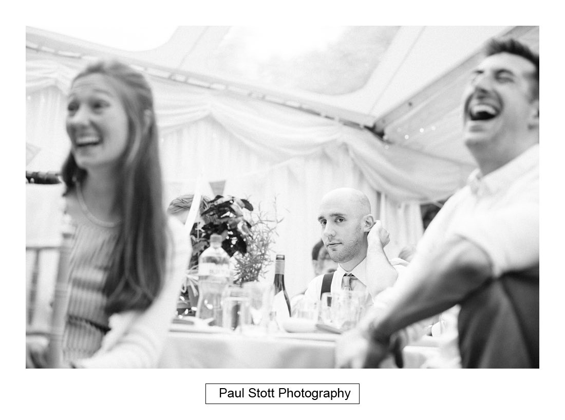 130 woodlands farm wedding speeches 010 - Wedding Photography Woodlands Farm  - Misha and Greg