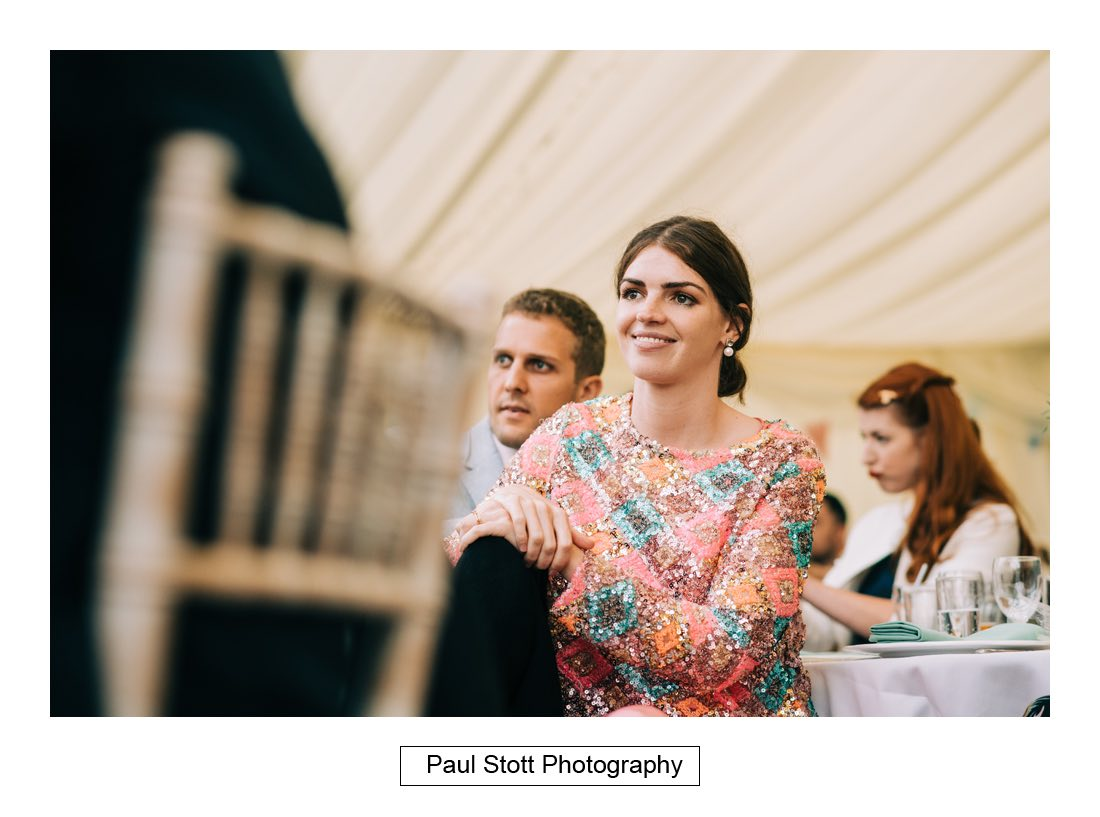 131 woodlands farm wedding speeches 011 - Wedding Photography Woodlands Farm  - Misha and Greg