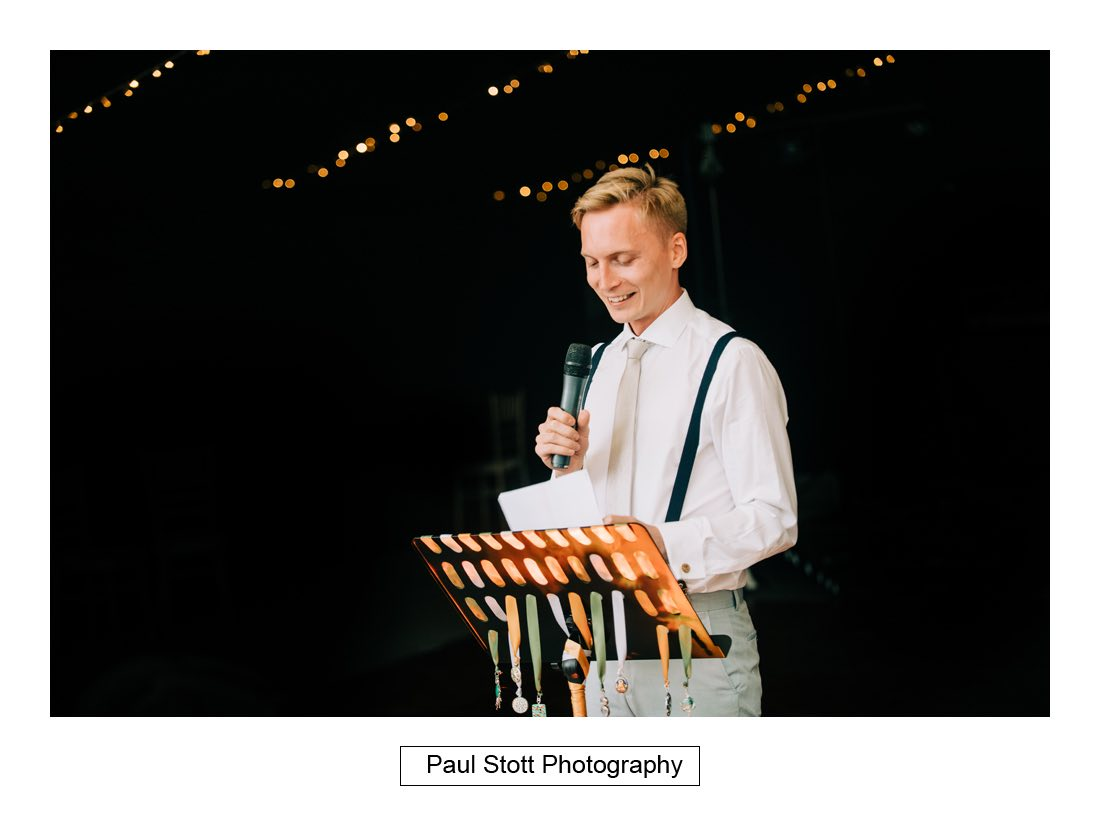 134 woodlands farm wedding speeches 014 - Wedding Photography Woodlands Farm  - Misha and Greg