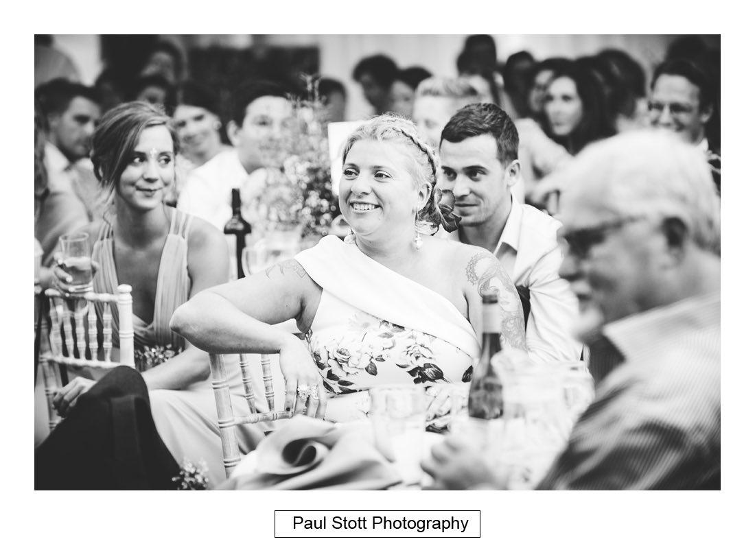 138 woodlands farm wedding speeches 018 - Wedding Photography Woodlands Farm  - Misha and Greg