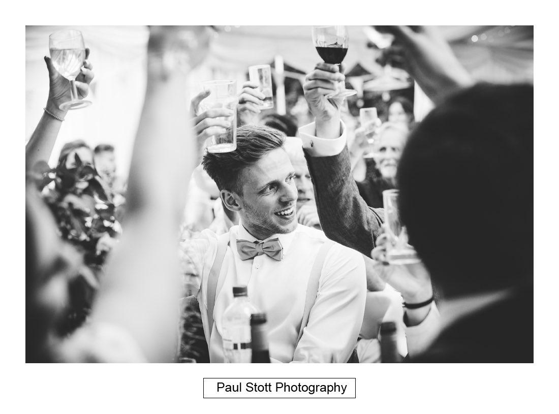 140 woodlands farm wedding speeches 020 - Wedding Photography Woodlands Farm  - Misha and Greg