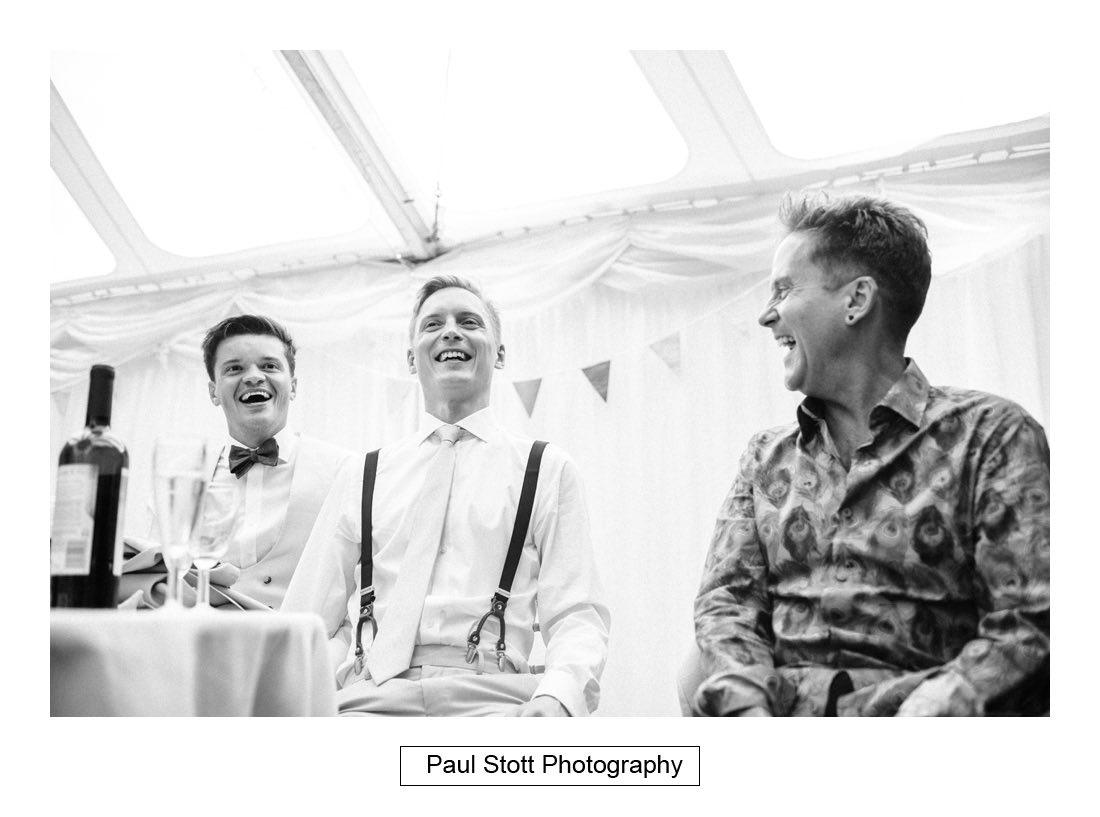 143 woodlands farm wedding speeches 023 - Wedding Photography Woodlands Farm  - Misha and Greg