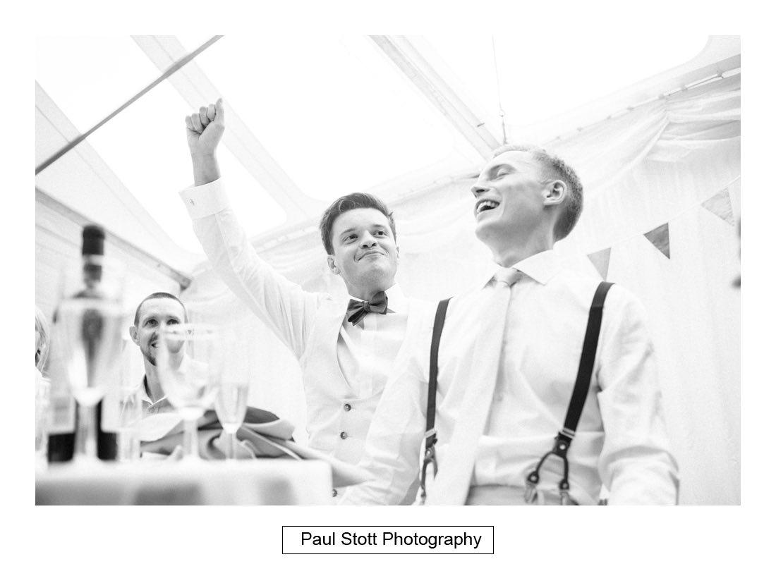 144 woodlands farm wedding speeches 024 - Wedding Photography Woodlands Farm  - Misha and Greg