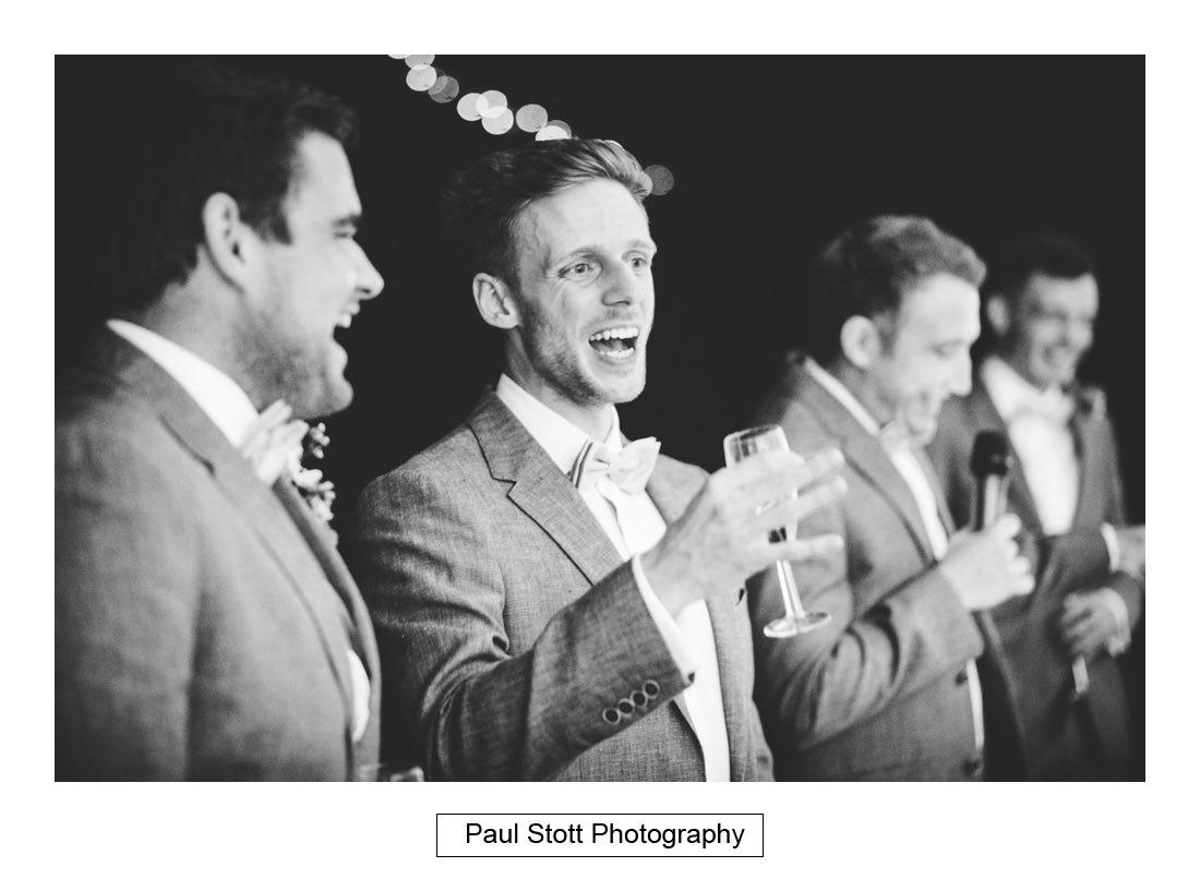 146 woodlands farm wedding speeches 026 - Wedding Photography Woodlands Farm  - Misha and Greg