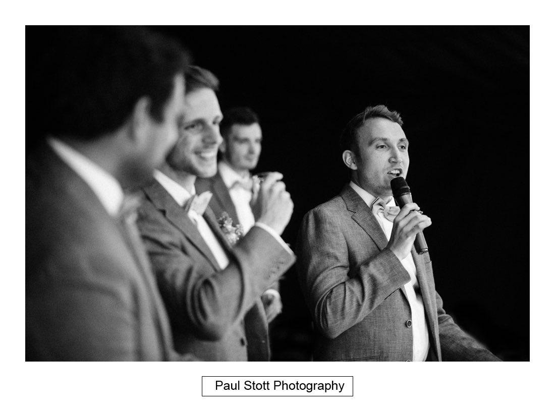147 woodlands farm wedding speeches 027 - Wedding Photography Woodlands Farm  - Misha and Greg